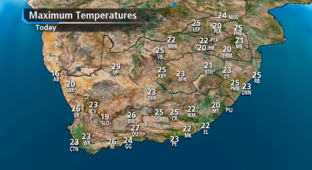 SA weather forecast today - loading.....