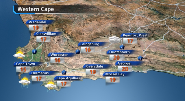 W. Cape weather forecast tomorrow - loading.....
