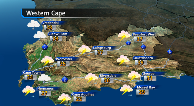 W. Cape weather forecast today - loading.....